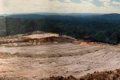 Le chantier d'extraction - Juillet 1986
